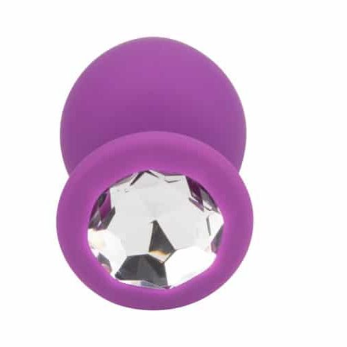 N11239 Loving Joy Jewelled Silicone Butt Plug Purple Large 3